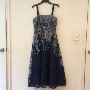 MIKAEL AGHAL BLUE DRESS